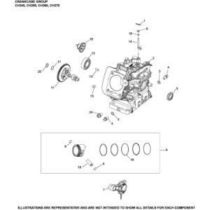 Запчасть к бензиновому двигателю Ломбардини / Колер CH260