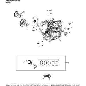 Запчасть к бензиновому двигателю Ломбардини / Колер CH395