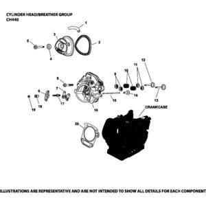 Запчасть к бензиновому двигателю Ломбардини / Колер CH440